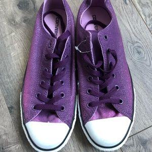 Converse Shoes | Purple Sparkle